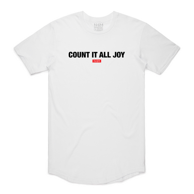 Count It All Joy Curve T [White] - NHiM Apparel