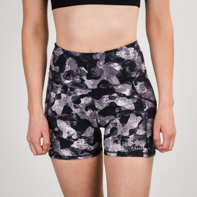 Strength NHiM Pocket Camo Shorts - Black/White
