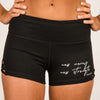New Mercy New Strength Criss-Cross Shorts - Black - NHiM Apparel