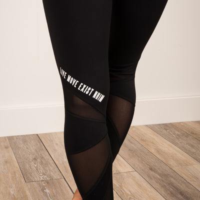 Live Move Exist Capri Leggings - Black - NHiM Apparel