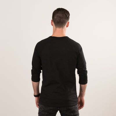 NHIM ORIGINAL BASEBALL T - BLACK HEATHER - NHiM Apparel