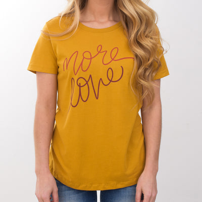 More Love Tee [Gold] - NHiM Apparel