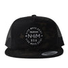 NHiM Colorado Patch Trucker [BLACK CAMO] - NHiM Apparel