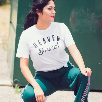 Heaven Bound Tee - White - NHiM Apparel