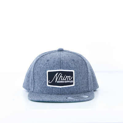 NHiM Sacred Supplies Snapback - Melton Wool - NHiM Apparel