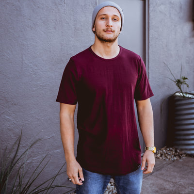 NHiM Red Label Premium T - Maroon - NHiM Apparel