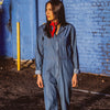 The Harper Denim Collared Jumpsuit