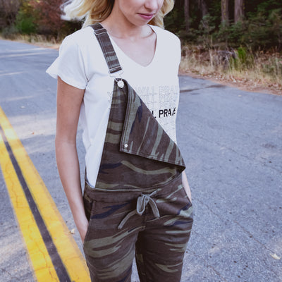 NHiM Washed Camo Overalls - Green