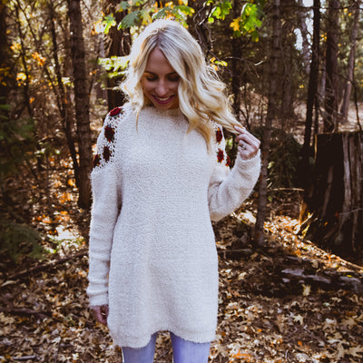 Bella Rose Sweater - NHiM Apparel