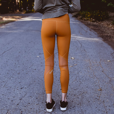 Majestic - Slanted Mesh Leggings in Topaz - NHiM Apparel