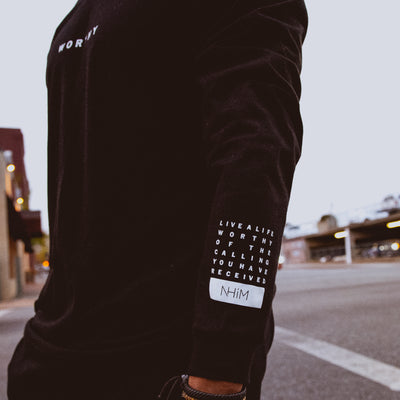 Worthy NHiM Long Sleeve T - Black