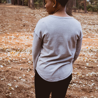 Perhaps This Is The Moment Pullover - Cloud Grey