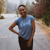 It is Well Rolled Cuff T - Heather Teal - NHiM Apparel