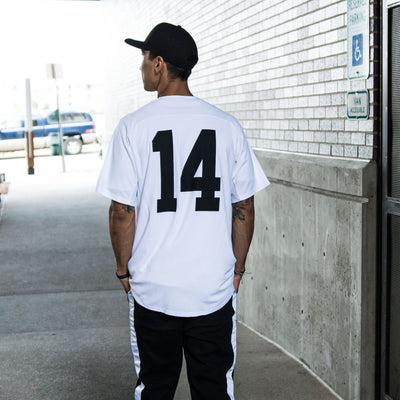 NHiM x New Era Baseball Jersey  - White - NHiM Apparel