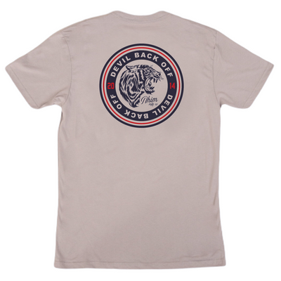 Devil back off seal T [Concrete] - NHiM Apparel