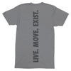 NHiM Dot Athletic T - Grey Triblend - NHiM Apparel