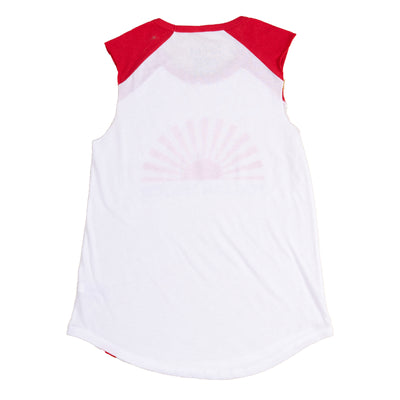 Follow The Son Cutoff Tee - White/Red - NHiM Apparel