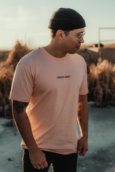 Trust God T [Faded Pink] - NHiM Apparel