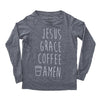 Jesus Grace Coffee Pullover - Eco Grey - NHiM Apparel