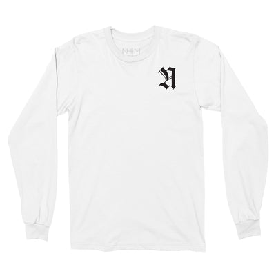 Merciful Long Sleeve T - White - NHiM Apparel