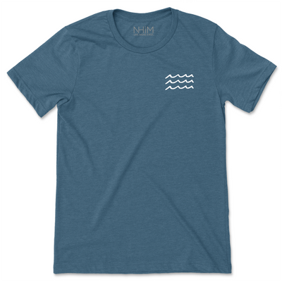Waves Tee [Deep Teal] - NHiM Apparel
