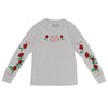 New Life Roses Long Sleeve - Athletic Grey - NHiM Apparel