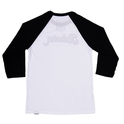 Reborn Baseball Tee - White/Black - NHiM Apparel