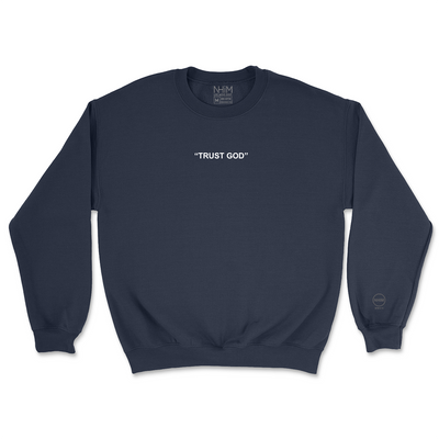 Trust God Crew [Navy] - NHiM Apparel