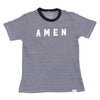 Amen Eco Stripe Tee - Black/White - NHiM Apparel
