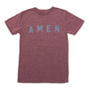 AMEN T - Burgundy Snow - NHiM Apparel