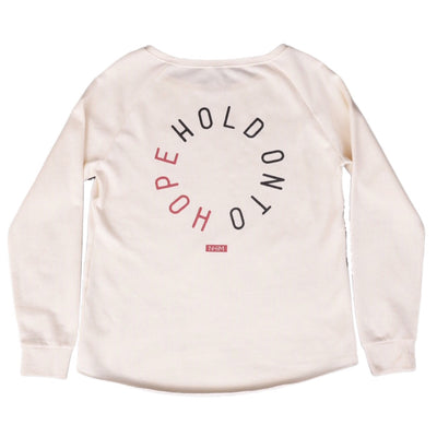 Hold onto Hope Crew Pullover [Vanilla] - NHiM Apparel