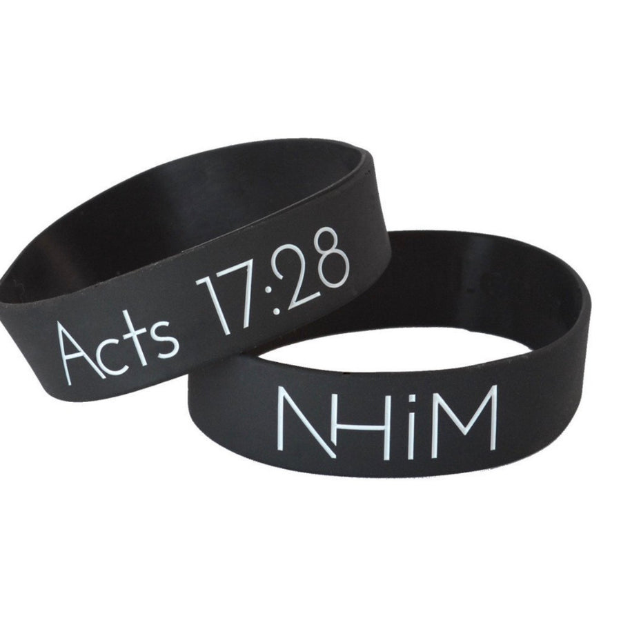 "8"" NHiM Men's Wristband [black] - NHiM Apparel"