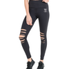 Devil Back Off ripped leggings [Black] - NHiM Apparel