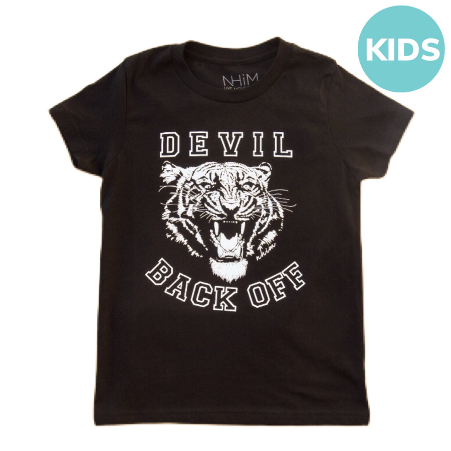 Devil Back Off Tee Kids [Black] - NHiM Apparel