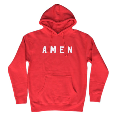 Amen Hoodie [Red] - NHiM Apparel