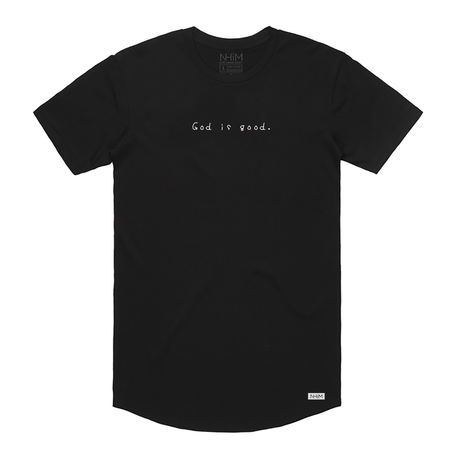 God is good Curve T [Black w/white] - NHiM Apparel