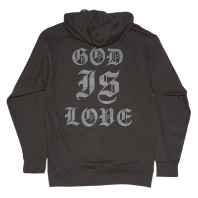 God is love Hoodie [Asphalt] - NHiM Apparel