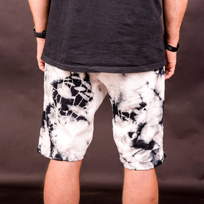 NHiM Icon Fleece Shorts [Marble Tie Dye]