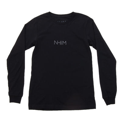 NHiM Embroidered Long Sleeve T - Black - NHiM Apparel