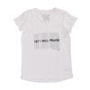 Yet I Will Praise V-Neck Tee - White
