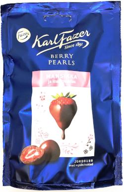 Fazer Chocolate Strawberry Pearls 90g