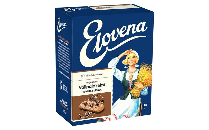 Elovena Dark Chocolate Oat Biscuits 10x30g