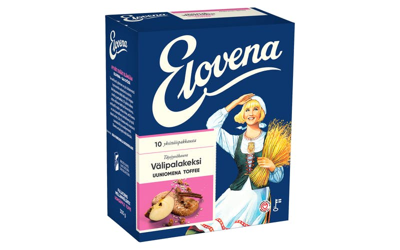 Elovena Baked Apple & Toffee Oat Biscuits 10x30g