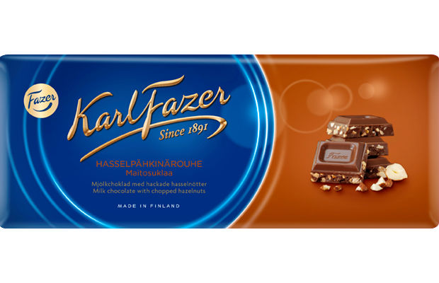 Fazer Chopped Hazelnuts Chocolate Bar 200g
