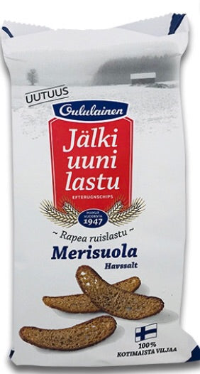 Oululainen Rye Chips Sea Salt 130g