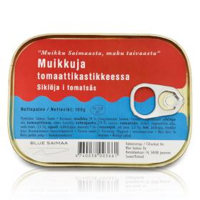 Blue Saimaa Vendace Fish in Tomato Sauce 100g