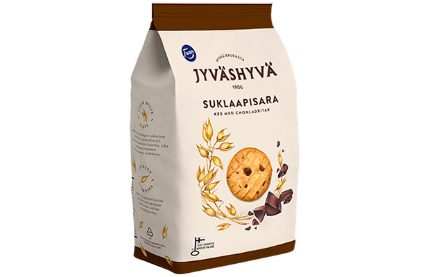 Fazer Jyväshyvä Wheat Biscuits with Chocolate Pieces 350g