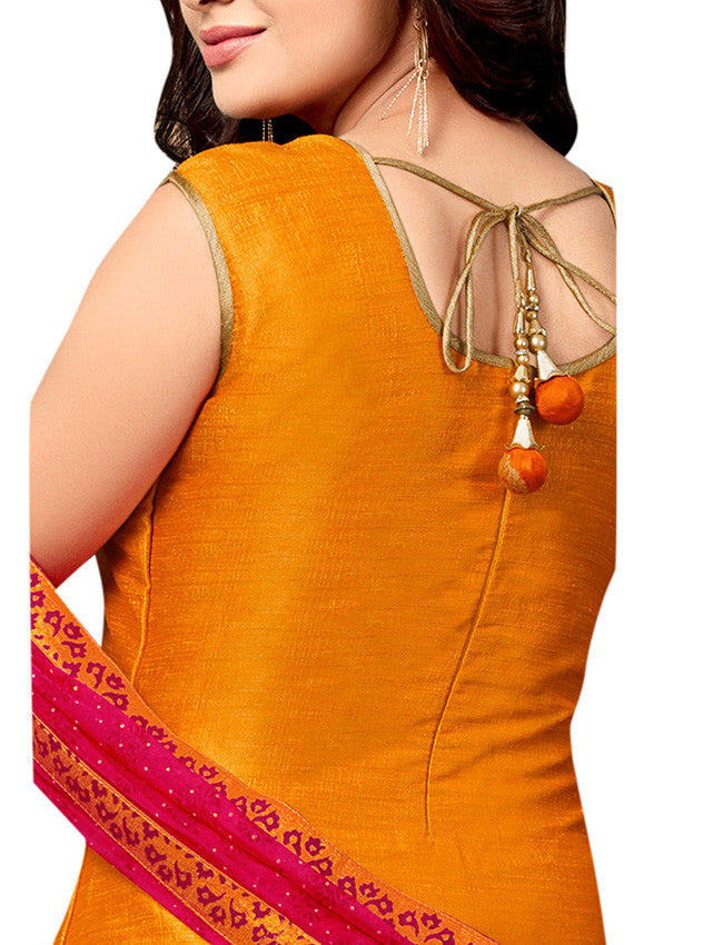 Mustard designer jacket suit with mirror embroidery