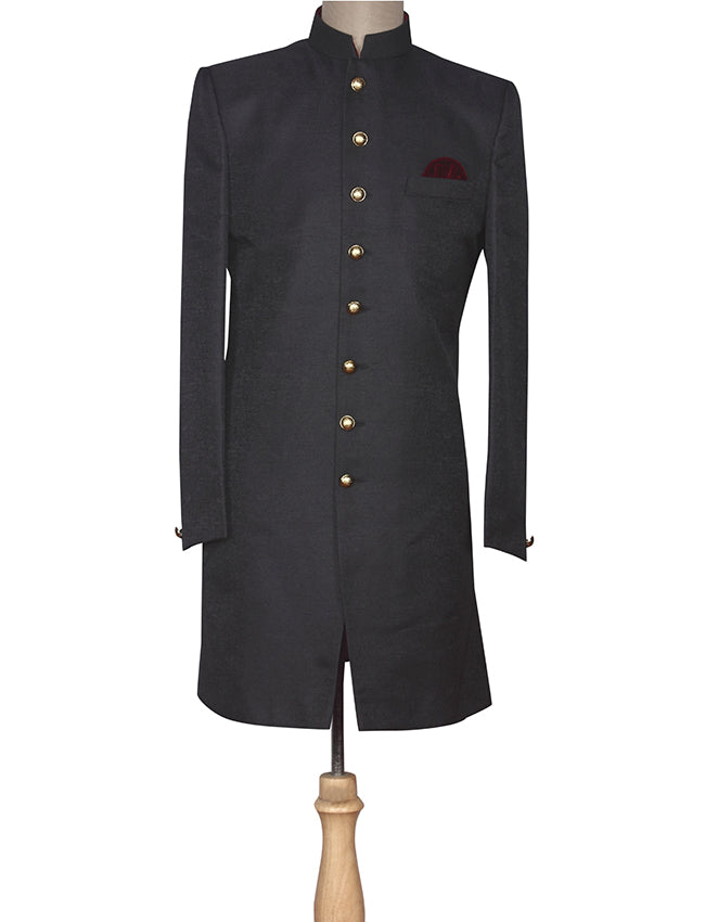 Navy blue indowestern jacket suit