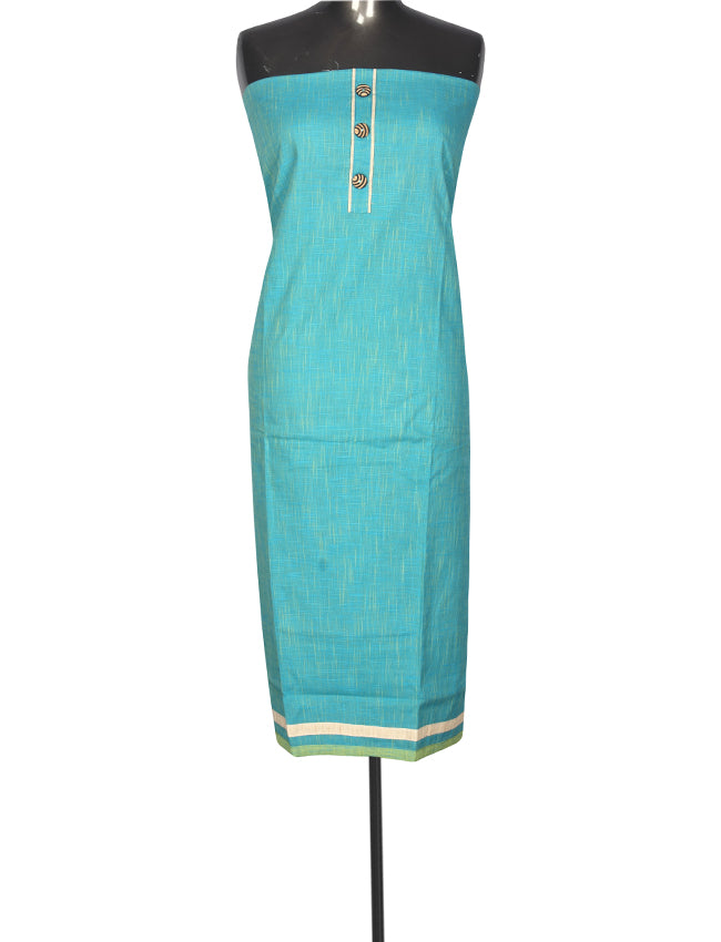 Beautiful aqua blue unstitched suit